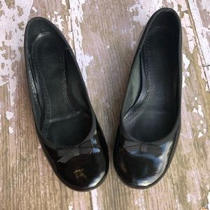 Clarks Artisan Patent Leather Flats Bow 6.5